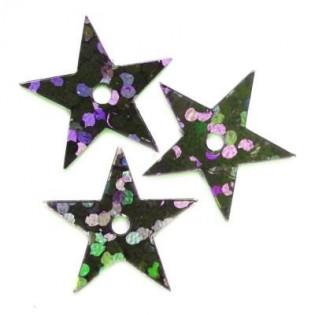 Cekiny Gwiazdka 13 mm laserowa czarna