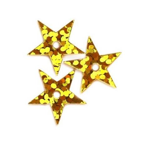 Cekiny Gwiazdka 13 mm laserowa złote