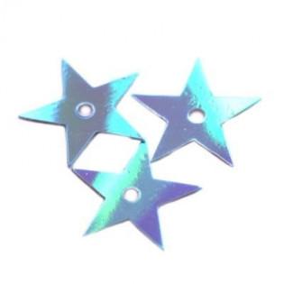 Cekiny Gwiazdka 13 mm tęczowa niebieskie