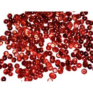 Cekiny 6 mm łamane czerwone
