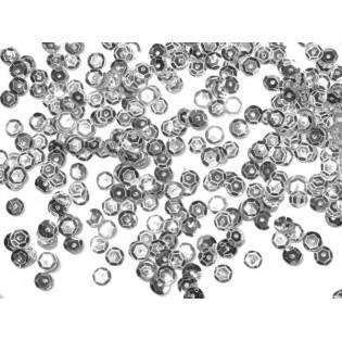 Cekiny 6 mm łamane srebrne
