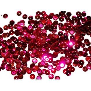 Cekiny 6 mm łamane różowe