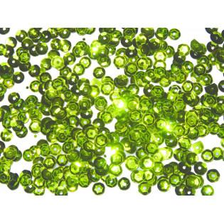 Cekiny 6 mm łamane jasno zielone
