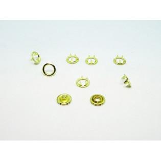 Zatrzaski Springi 15 (9,5 mm) złote op 100 kpl