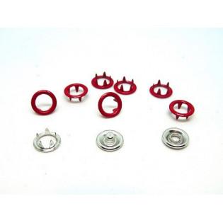 Zatrzaski Springi 15 (9,5 mm) czerwone op 100 kpl
