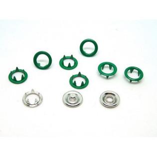 Zatrzaski Springi 15 (9,5 mm) ciemno zielone op 100 kpl