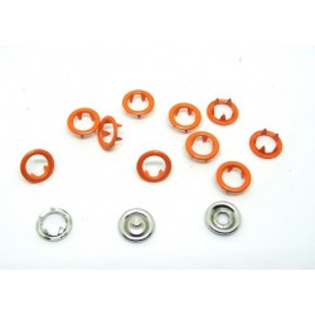 Zatrzaski Springi 15 (9,5 mm) pomarańczowe op 100 kpl