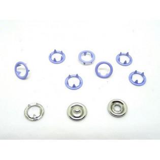 Zatrzaski Springi 15 (9,5 mm) wrzosowe op 100 kpl