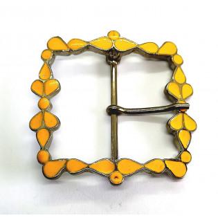 Klamra metalowa do paska 4 cm ozdobna lakierowana