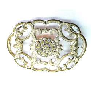 Klamra metalowa do paska 4 cm ozdobna