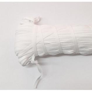 Tasiemka na troczki, wieszaczki 5 mm biała